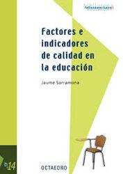 Factores e indicadores de calidad en la educación